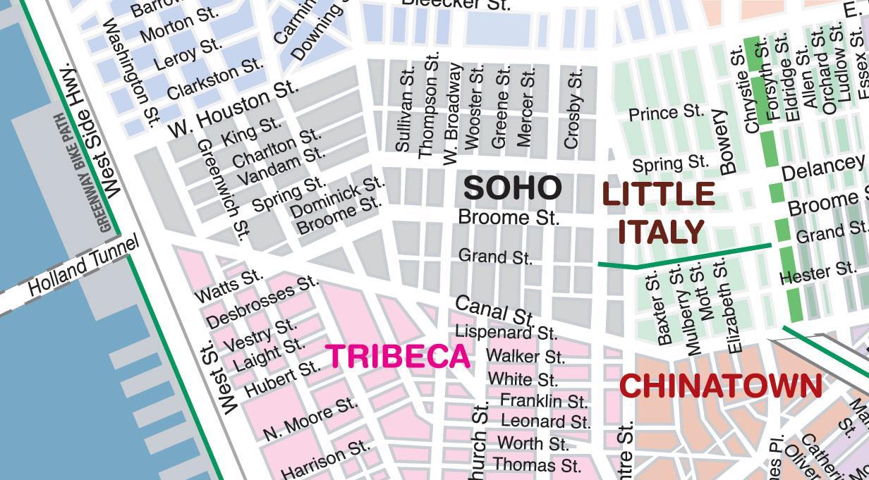 Soho NYC map - Soho-New York anzeigen (New York - USA)