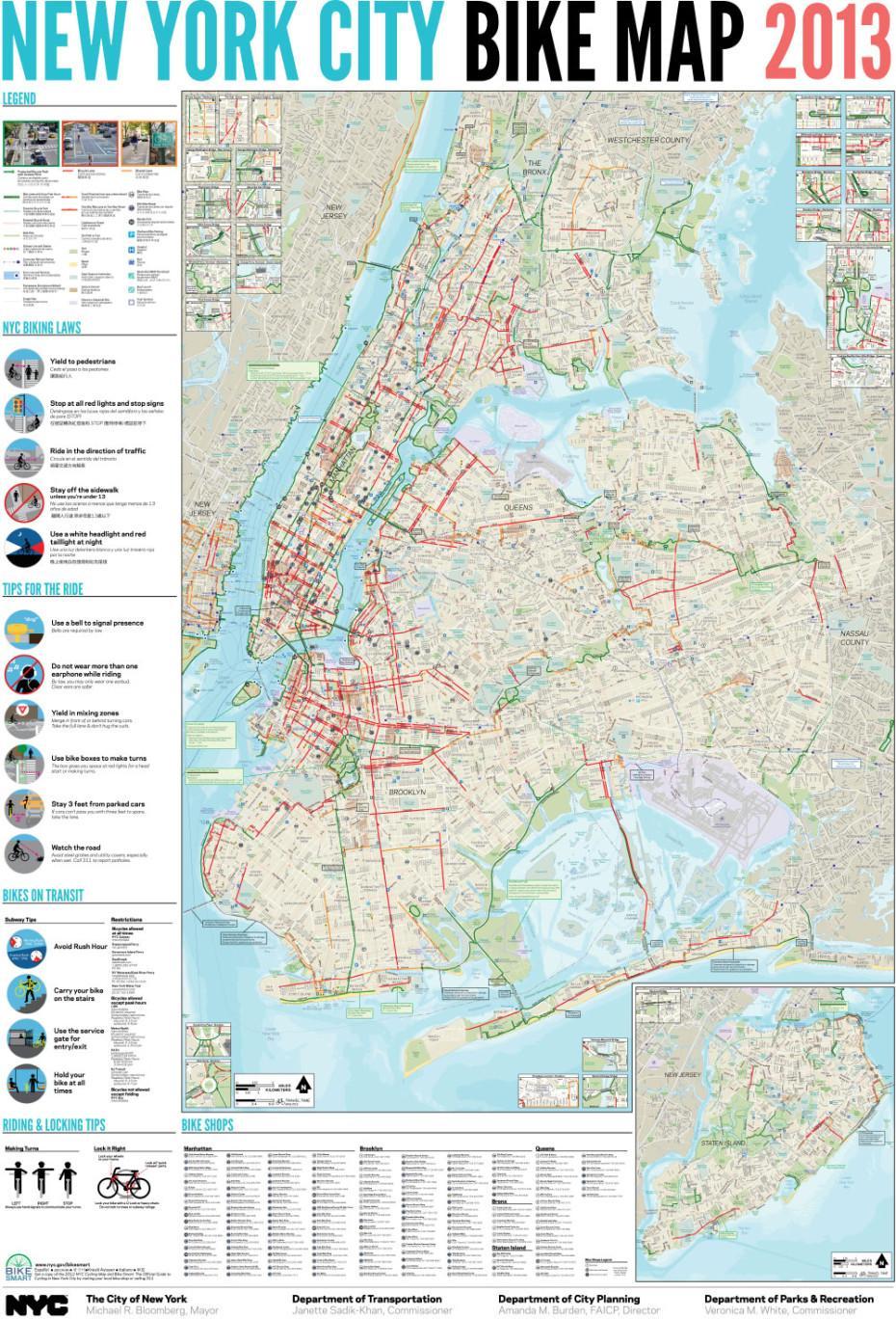 City bike NYC map - City-bike, New York Karte (New York - USA)