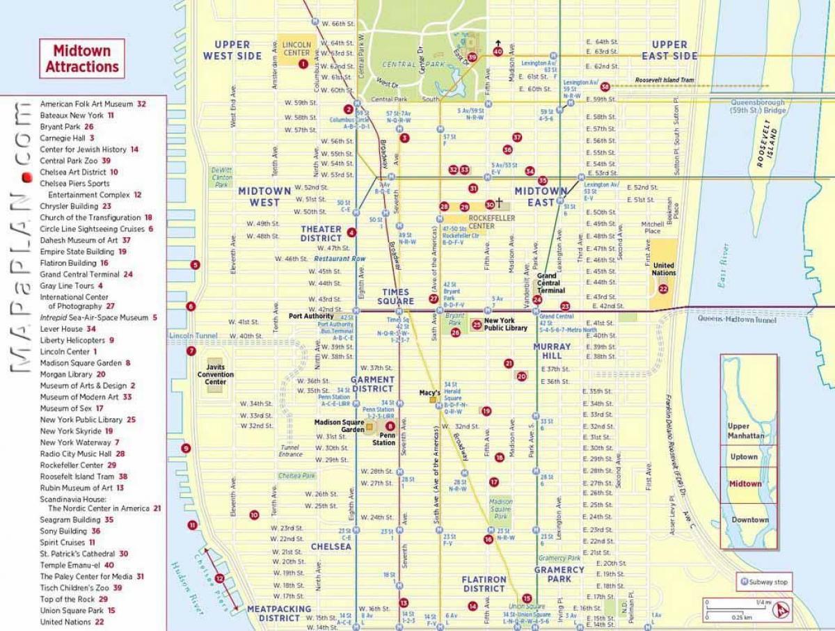 NYC tourist map printable - Touristische Karte von New York ...