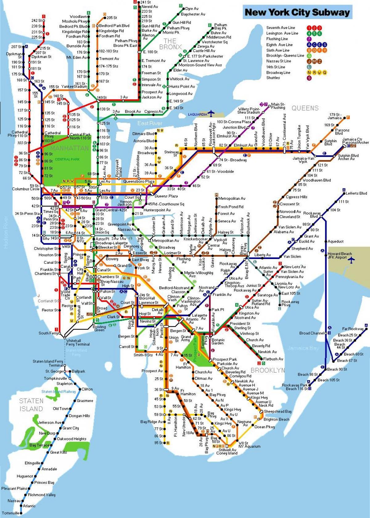 U Bahn Karte New York.Nyc U Bahn Karte Metro Karte New York New York Usa