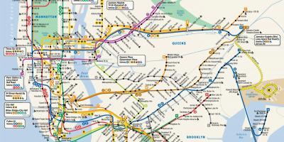 New York City NYCmap Karten New York City NYC New York USA